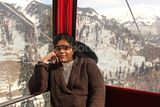 subha inside rope car